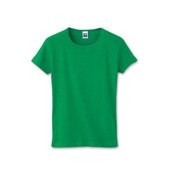 リブクルーネックTシャツ