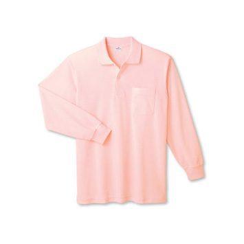 日本製長袖ポロシャツ (ポケット付)